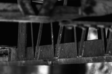 black and white railing