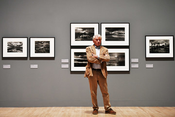 Renowned British photographer Don McCullin poses for the media during a retrospective of his work in London