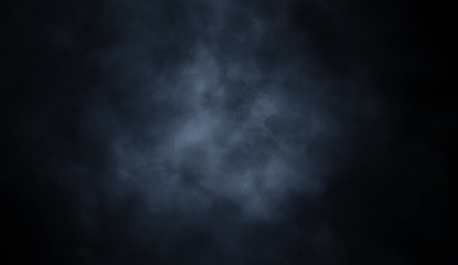 Blue misty smoke background. Abstract texture