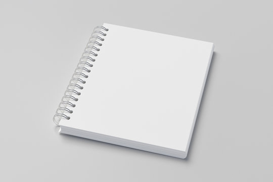 school notebook, spiral notepad on a table