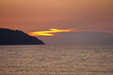 Sunset in the Bay of Procchio, Elba island, Tuscany, Italy