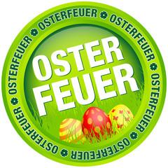 """Button """"Osterfeuer"""" Ostereier grün/rot"""