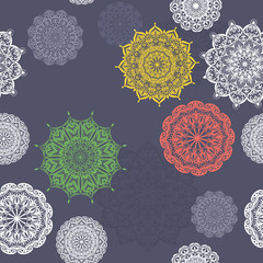 Seamless vector background with lace pattern