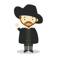Rubens cartoon character. Vector Illustration. Kids History Collection.