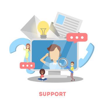 Technical support concept. Idea of customer service