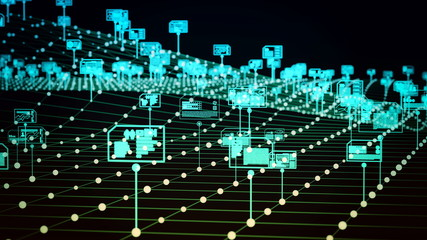 Wall Mural - Internet digital data storage and management