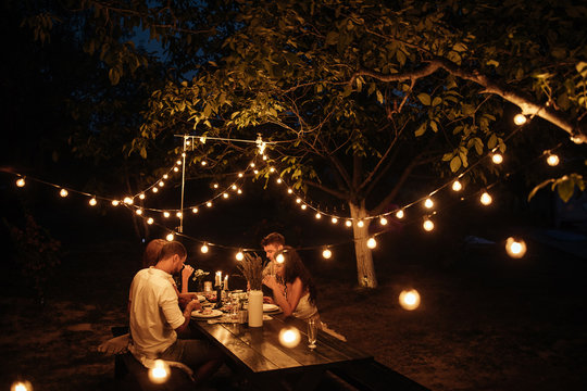Romantic dinner with friends