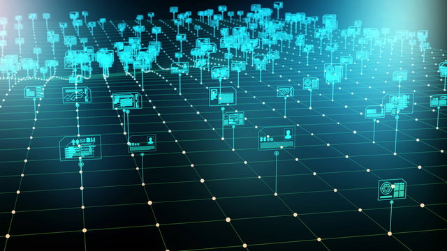 Internet digital data storage and management concept