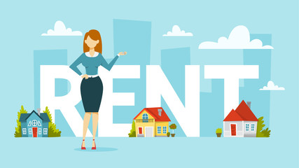 Rent a house concept. Idea of real estate