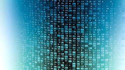 Wall Mural - Internet information technology data wall