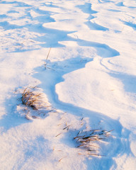 Surface of snow in winter