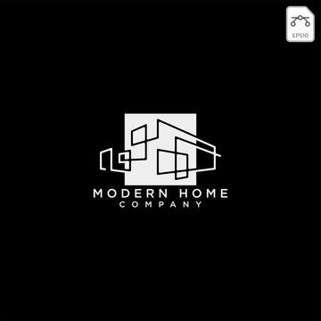 Construction architect logo design icon vector element
