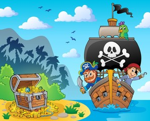 Wall Murals For Kids Image with pirate vessel theme 6