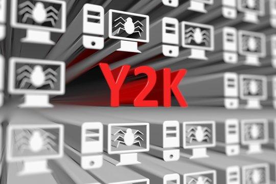 Y2K concept blurred background 3d render illustration