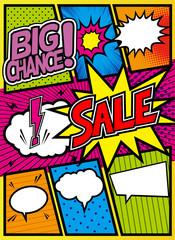 アメコミ風コマ割り素材 pop art comics book magazine, speech bubble, balloon, box message