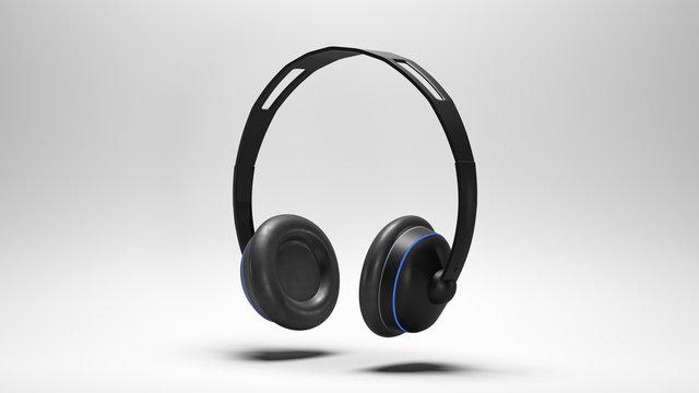 Wireless Kopfhörer, vor weißem Hintergrund