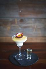 panna cotta porn star martini dessert
