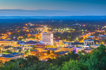 Hot Springs, Arkansas, USA Town Skyline