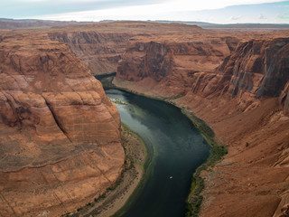 Staande foto Canyon Horseshoe Bend meander of Colorado River, near the town of Page, Arizona, United States