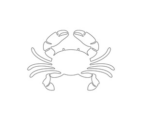 Crab circuit. Isolated crab on white background
