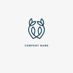 Vector illustration, Graphic Design Note web logotype. Abstract music logo icon vector design. Sound recording studio, night party. School of Music, disco, vocal course, composer, singer vector logo.