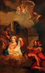 Nativity Scene, Adoration of the Shepherds, Saint Etienne du Mont Church, Paris.