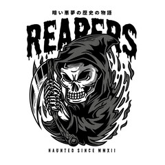 The Reapers Black and White Illustration