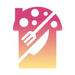 restaurant logo, fork, knife, house and mushroom