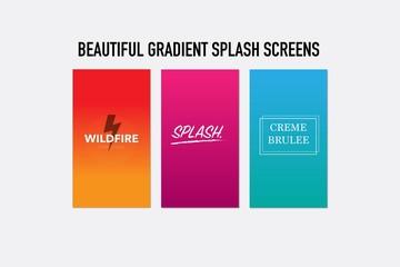 3 Gradient Splash Screens for UI