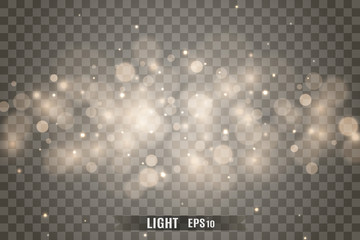 Stars glitter special light effect. Vector sparkles on transparent background. Christmas abstract pattern. Sparkling magic dust particles Fotoväggar