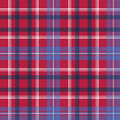 Red tartan plaid seamless fabric texture