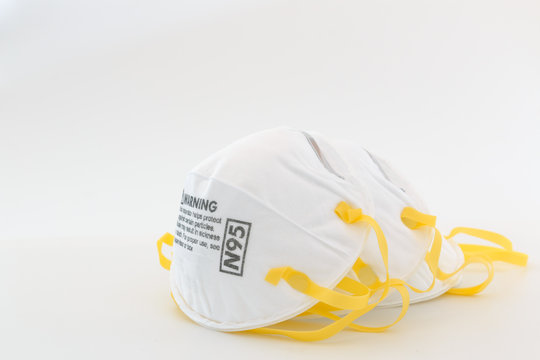 Protection respirator  for N95 Filter face mask,safeguard on white background