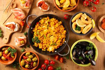 assorted spanish food