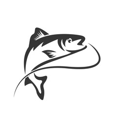 Fishing vector design logo template. - fish logo Vector
