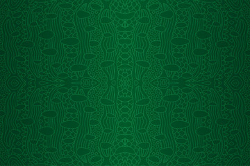 Green seamless linear pattern looks like leather