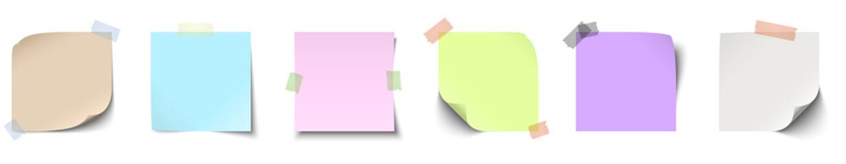 Fototapeta sticky papers collection obraz