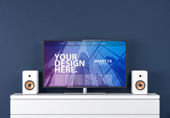 Smart TV on Drawers Mockup