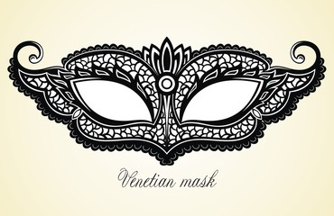 Carnival masks. Collection for party decoratio