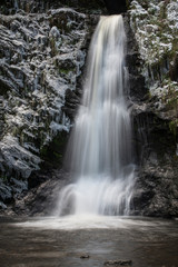 Woodland Snow waterfall Landscape