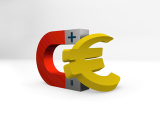 euro symbol, illustration  of euro money