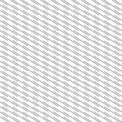 Pattern diagonal black line seamless on white background. Stripe pattern abstract vector.
