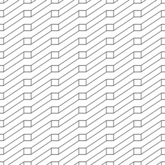 Abstract geometric pattern seamless with black line on white background.