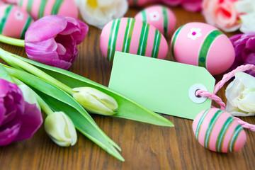 Easter egg decoration and label