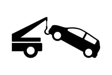 Obraz auto pomoc - holowanie samochodu - fototapety do salonu