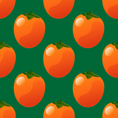 Persimmon seamless pattern