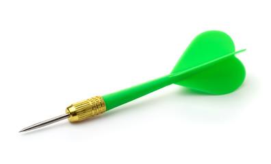 Green plastic darts arrow