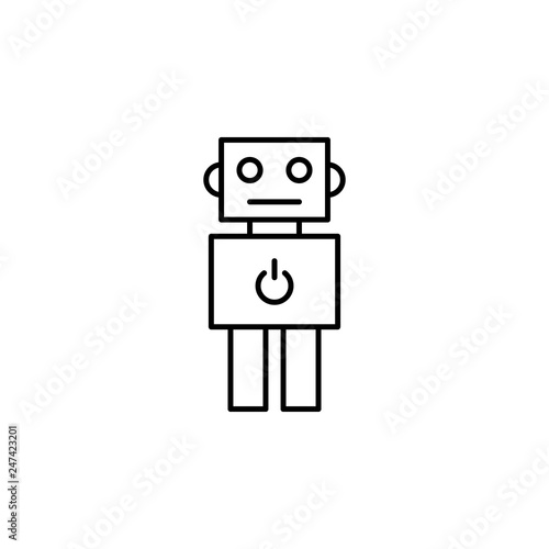 robot outline icon  Signs and symbols can be used for web