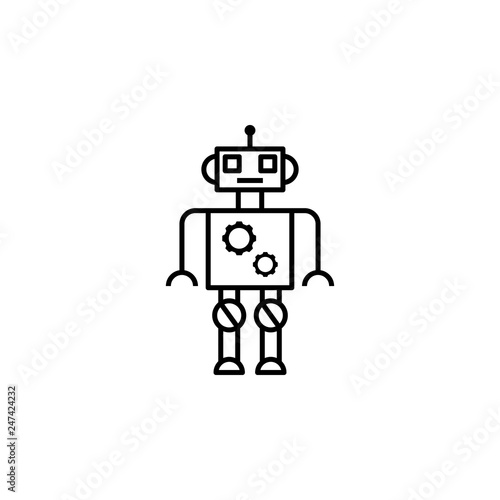 robot, settings, gear outline icon  Signs and symbols can be
