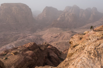 View of rocks in Petra, Jordan