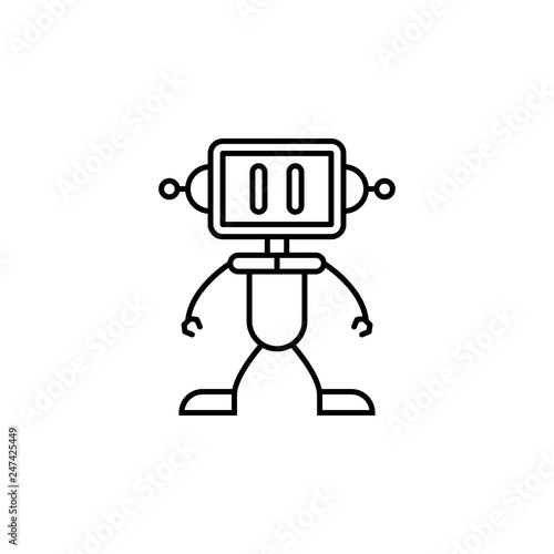 robot, boy outline icon  Signs and symbols can be used for